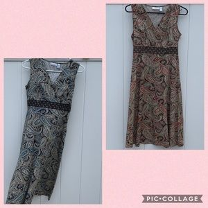 Two petite paisley dresses - will sell separate